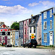 Colorful Houses In St. John's Art Print by Elena Elisseeva