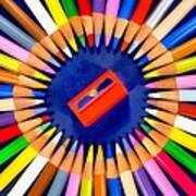 Colorful Pencils Art Print