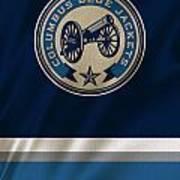 Columbus Blue Jackets Uniform Art Print