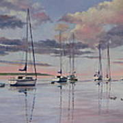 Cuttyhunk Harbor Art Print by Karol Wyckoff