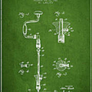 Drill Pounder Patent Drawing From 1922 Art Print