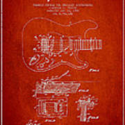 Fender Tremolo Device Patent Drawing From 1956 Art Print