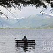 Flooding Lake Art Print