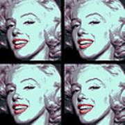 4 Frame Marilyn Pop Art Art Print