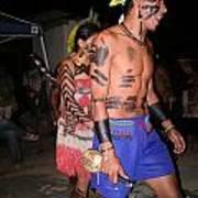 Fulnio Indians Of Brazil Art Print