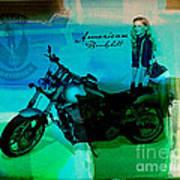 Harley Davidson Ad Art Print
