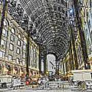 Hays Galleria London Sketch Art Print
