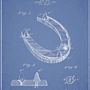 Horseshoe Patent Drawing From 1881 Art Print