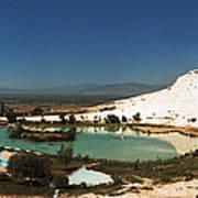 Hot Springs And Travertine Pool Art Print