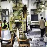 Inside The Historic Jewish Synagogue In Cochin Art Print