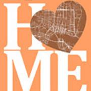 Jacksonville Street Map Home Heart - Jacksonville Florida Road M Art Print