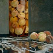 Jar Of Peaches Art Print