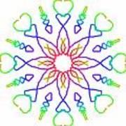 Kaleidoscope Drawing Art Print