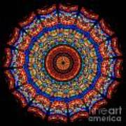 Kaleidoscope Stained Glass Window Series Art Print by Amy Cicconi