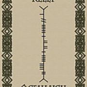 Kelly Written In Ogham Art Print