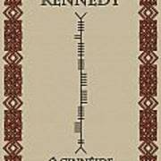 Kennedy Written In Ogham Art Print