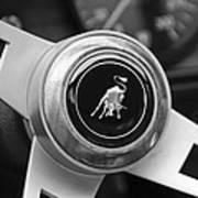 Lamborghini Steering Wheel Emblem Art Print