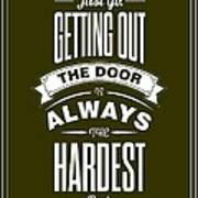 Life Motivating Quotes Poster Art Print