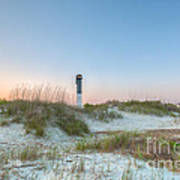 Sullivan's Island Dunes To Lighthouse View Art Print