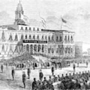 Lincoln's Funeral, 1865 Art Print