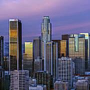 Los Angeles Skyline Sunset Art Print