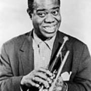 Louis Armstrong (1900-1971) Art Print by Granger
