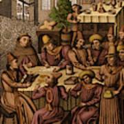 Medieval Accountants, 1466 Art Print