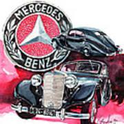 Mercedes Benz 320 Streamline Art Print