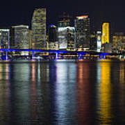 Miami Downtown Skyline Art Print