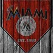 Miami Marlins Art Print