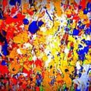 Modern Abstract Painting Original Canvas Art Wild By Zee Clark Art Print