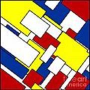 Mondrian Rectangles Art Print