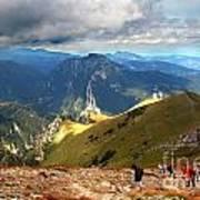 Mountains Stormy Landscape Art Print