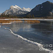 Mt. Rundle And Vermillion Lake Art Print