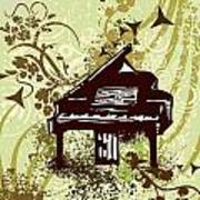 Musical Backgrounds With Instraments Art Print