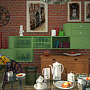 My Art In The Interior Decoration - Elena Yakubovich Art Print by Elena Yakubovich