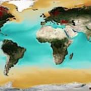 Ocean Carbonate Saturation Art Print
