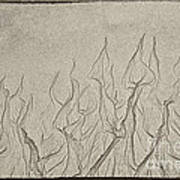 Ocean Sand Art Hearts Art Print