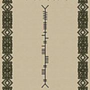 O'connor Written In Ogham Art Print