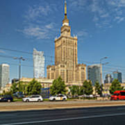 Palace Of Culture And Science In Warsaw Art Print