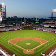 Panoramic View Of 29,183 Baseball Fans 4 Art Print