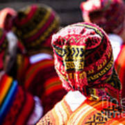 Peruvian Dancers At The Parade In Cusco Art Print