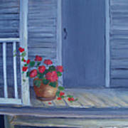Porch Flowers Art Print by Glenda Barrett