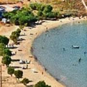 Psili Ammos Beach In Serifos Island Art Print