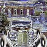 Psychedelic Classic Lagonda Art Print