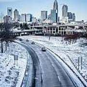 Rare Winter Scenery Around Charlotte North Carolina Art Print
