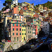 Riomaggiore Art Print by Barbara Walsh