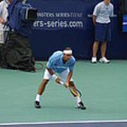 Roger Federer After 1st Slam Print by Rexford L Powell