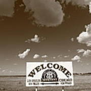 Route 66 - Midpoint Sign Art Print
