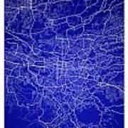 San Jose Street Map - San Jose Costa Rica Road Map Art On Colore Art Print